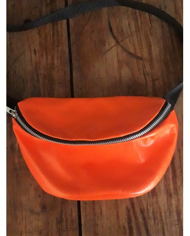SAC BANANE CUIR ORANGE
