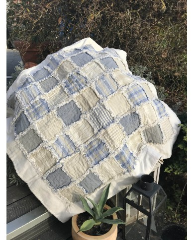 """Patchwork """"Rag quilt bleu"""""""