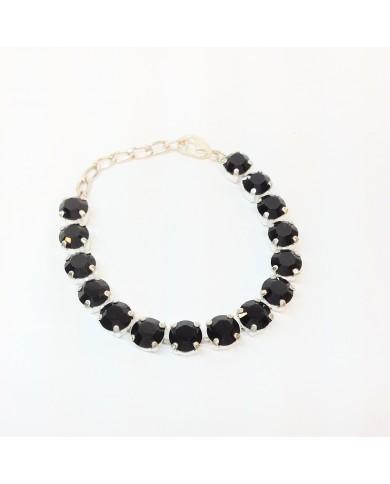 Serti bracelet SS39 noir