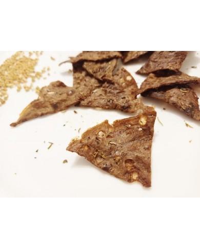 Chips au sarrasin et herbes...
